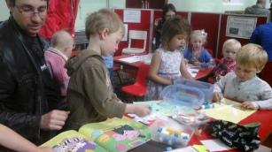 Activities in children's corner