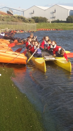 Canoeing at Crosby Marina
