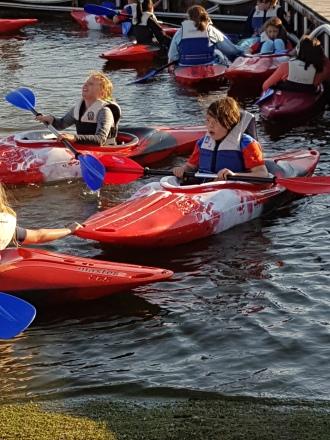 Canoeing at Crosby Marina