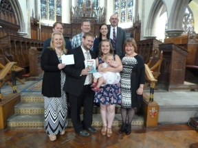 Thanksgiving Service for baby Penny Bell.