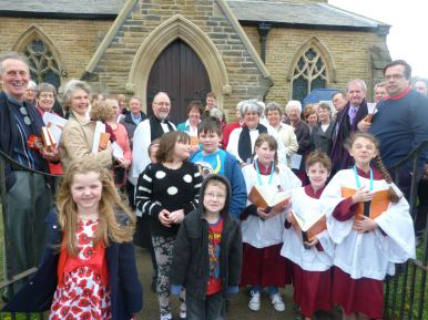 Opening of the renovated North Porch Door by Ven Ricky Panter, Archdeacon of Liverpool
