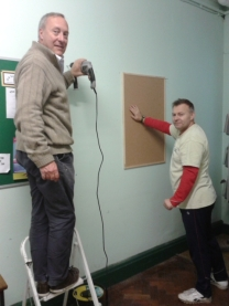 Putting up new noticeboards