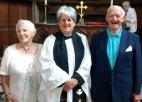 Celebrating their Diamond Wedding Anniversary. Harold and Mavis James (nee Rigby) were married in St. Nicholas' Church on 20th August 1955 and returned Sunday 23rd August 2015 to celebrate their 60 years together.