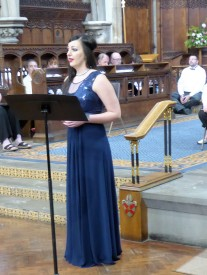 Danielle Louise Thomas, our soloist