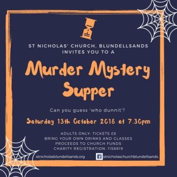 Murder mystery ticket 13 Oct 2018
