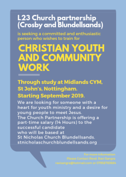 job vacancy christian youth and community work